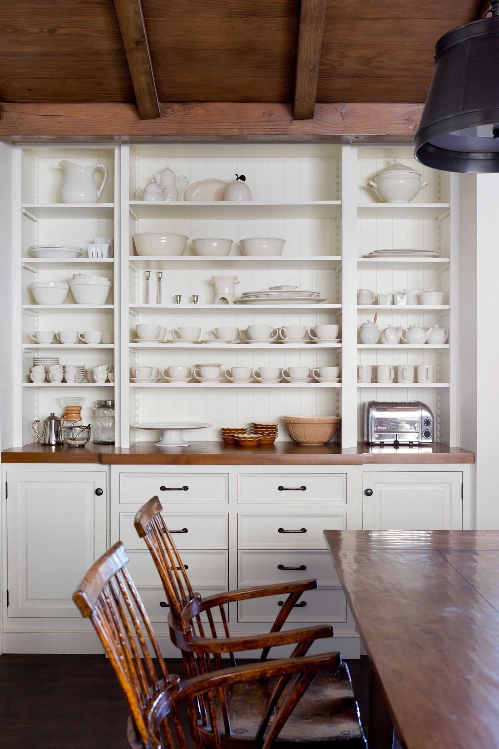 traditional working kitchen  kellybaron  upper cabinets