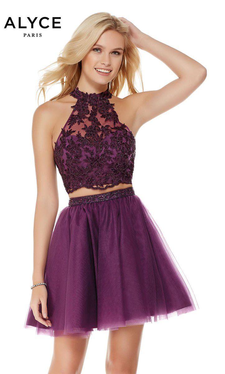 Alyce paris short lace tulle piece dress alyce paris