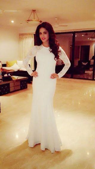 77736bd05eb4 Sunny Leone White Dress 2