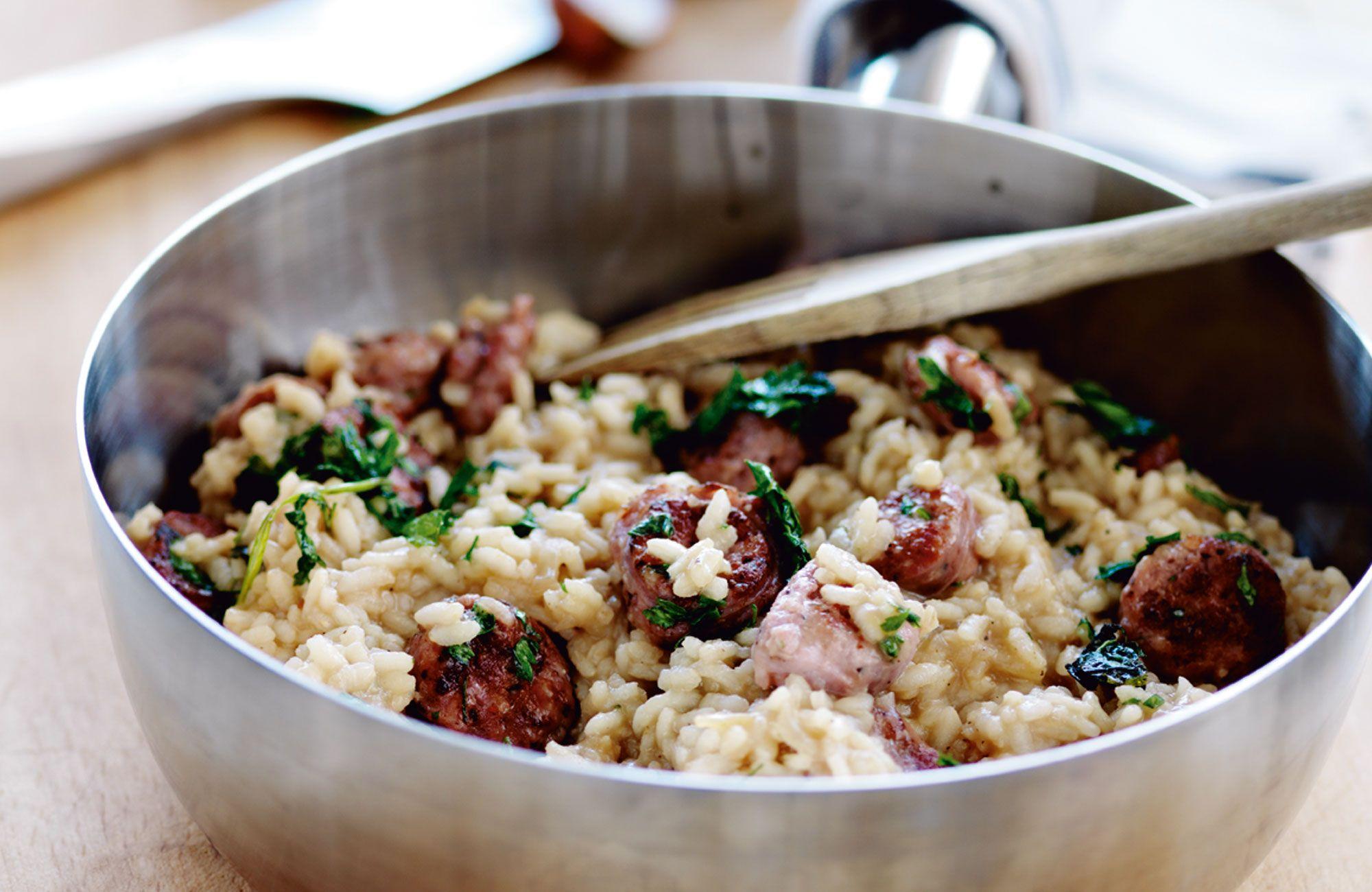 risotto salsiccia recept