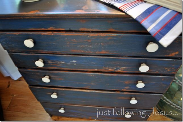 distressed blue furniture. Glaze And Wax Finish On Distressed Furniture Blue N