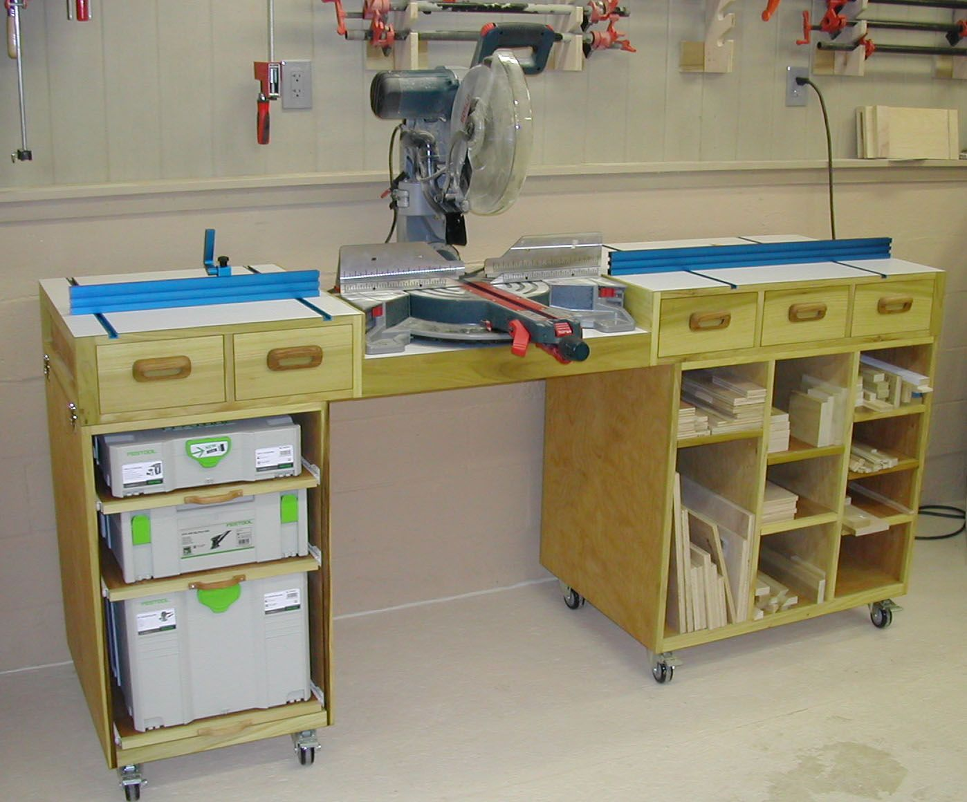 Miter Saw Work Station Plans