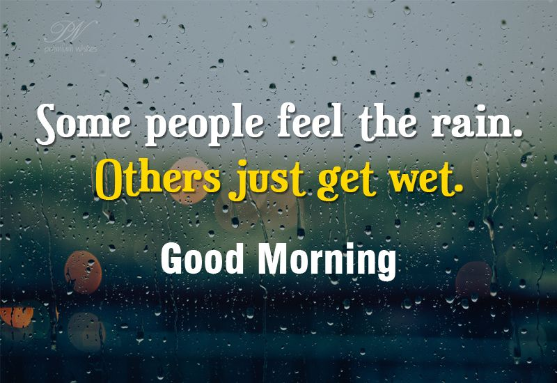 Goodmorning Quotes Some People Feel The Rain Others Just Get Wet#goodmorning #quotes .