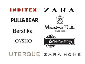 As várias marcas do grupo Inditex