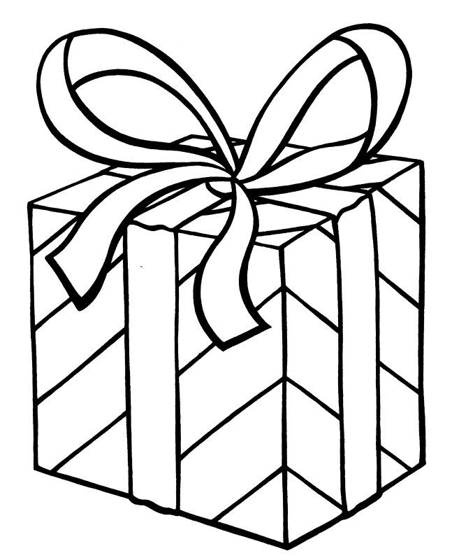 my christmas present coloring page | arts & crafts: gift templates ... - Coloring Pages Christmas Presents