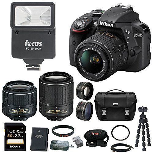 Nikon d3300 dslr camera 4 lens kit 18 55mm 55 200mm vr lens 52mm nikon d3300 dslr camera 4 lens kit 18 55mm 55 200mm vr lens fandeluxe Image collections