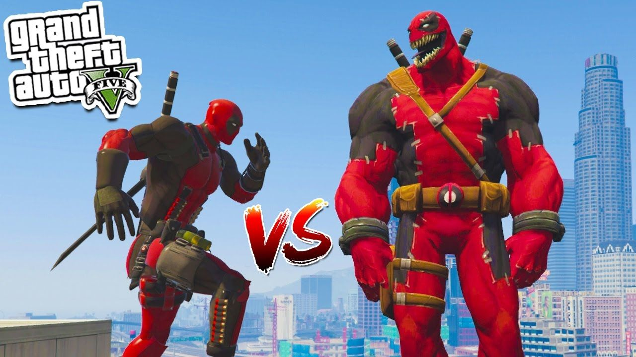GTA 5: DEADPOOL Vs VENOMPOOL BATTLE!!! | GTA 5 Mods Gameplay