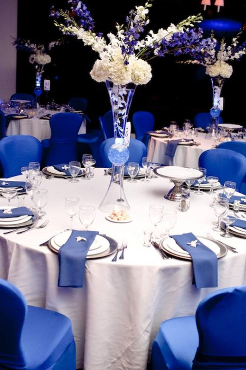Wedding Dresses With Royal Blue Accents