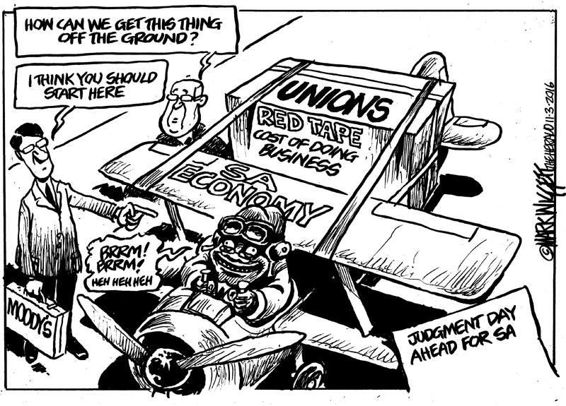 Moody's offers some advice to kickstart the SA Economy. Mark Wiggett, Herald Port Elizabeth