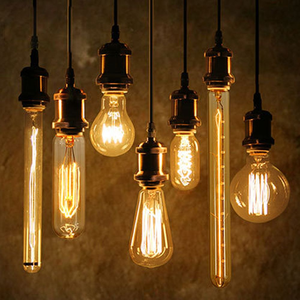 40 w antique vintage r tro edison ampoules e27 spirale incandescence lumi re st64 a19 g80 led - La lampe a incandescence ...