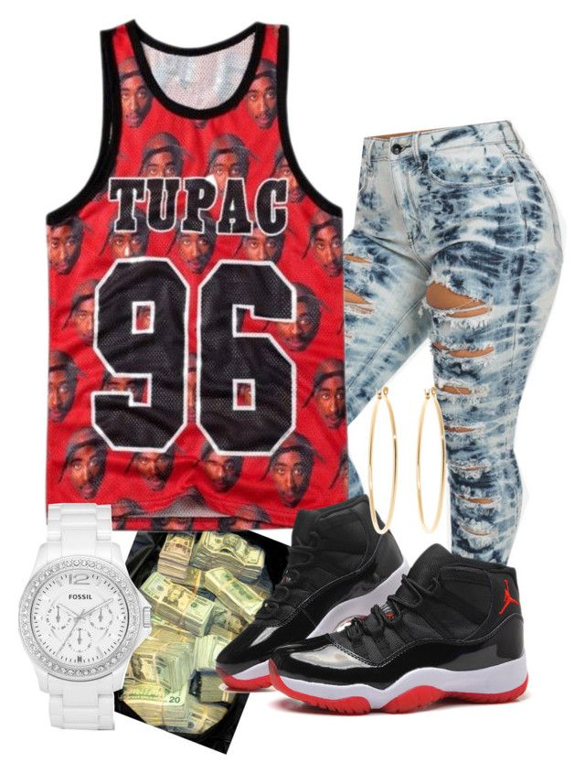 """""""Tupac 96"""" by snickers146587 ❤ liked on Polyvore featuring Brooks Brothers and FOSSIL"""