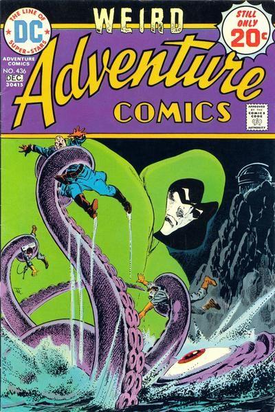 Jim Aparo, the Spectre, a would-be Nazi and a giant squid. It's Purple. It's green. It's art. #Spectre #JimAparo