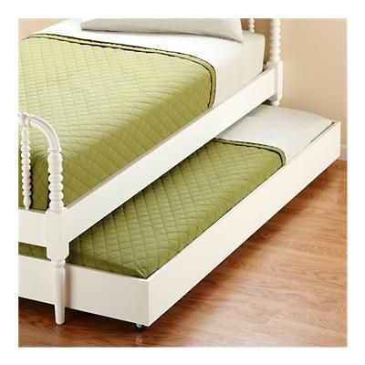 Land of Nod Jenny Lind twin bed trundle LOVE this for Majkin