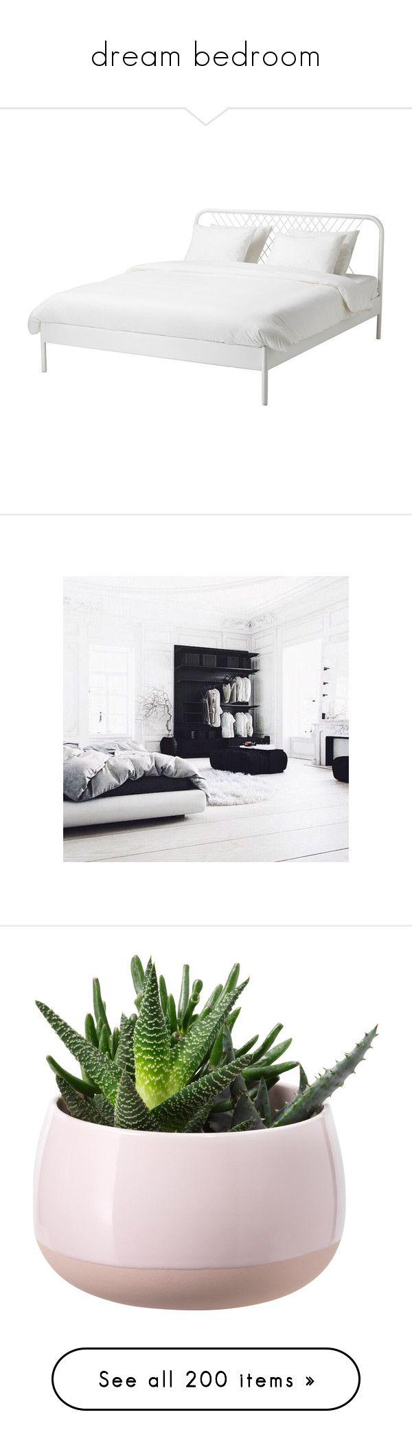 """""""dream bedroom"""" by lucas-stylesh ❤ liked on Polyvore featuring home, children's room, children's bedding, bed, ikea, white, bed frame, home decor, floral decor and fillers"""