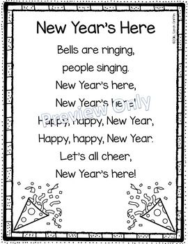 New Years Poem for Kids | New year poem, New years song ...
