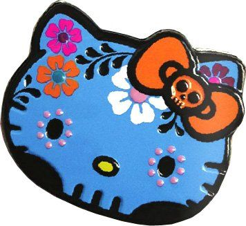 Hello Kitty Sweet Skulls Candy Tin Blue * Check this