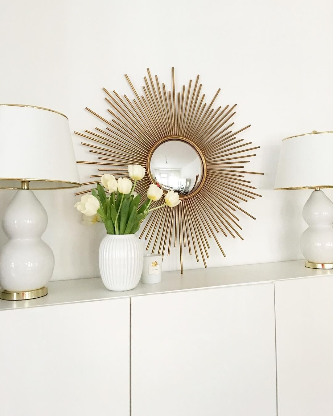 We love Sunburst Mirrors! Die dekorativen Sonnenspiegel in gold ...