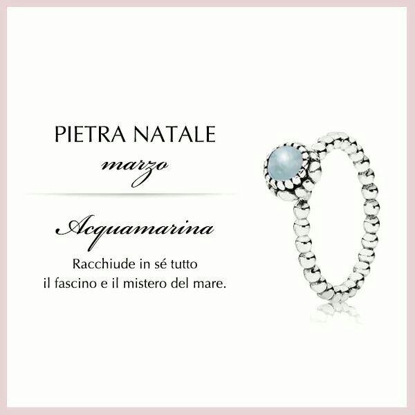 anello pandora pietra natale marzo