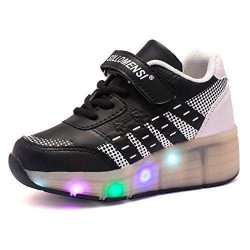 Sollomensi® ruedas Velcro zapatillas Colores Con led 5 Y Luces ffparqxw