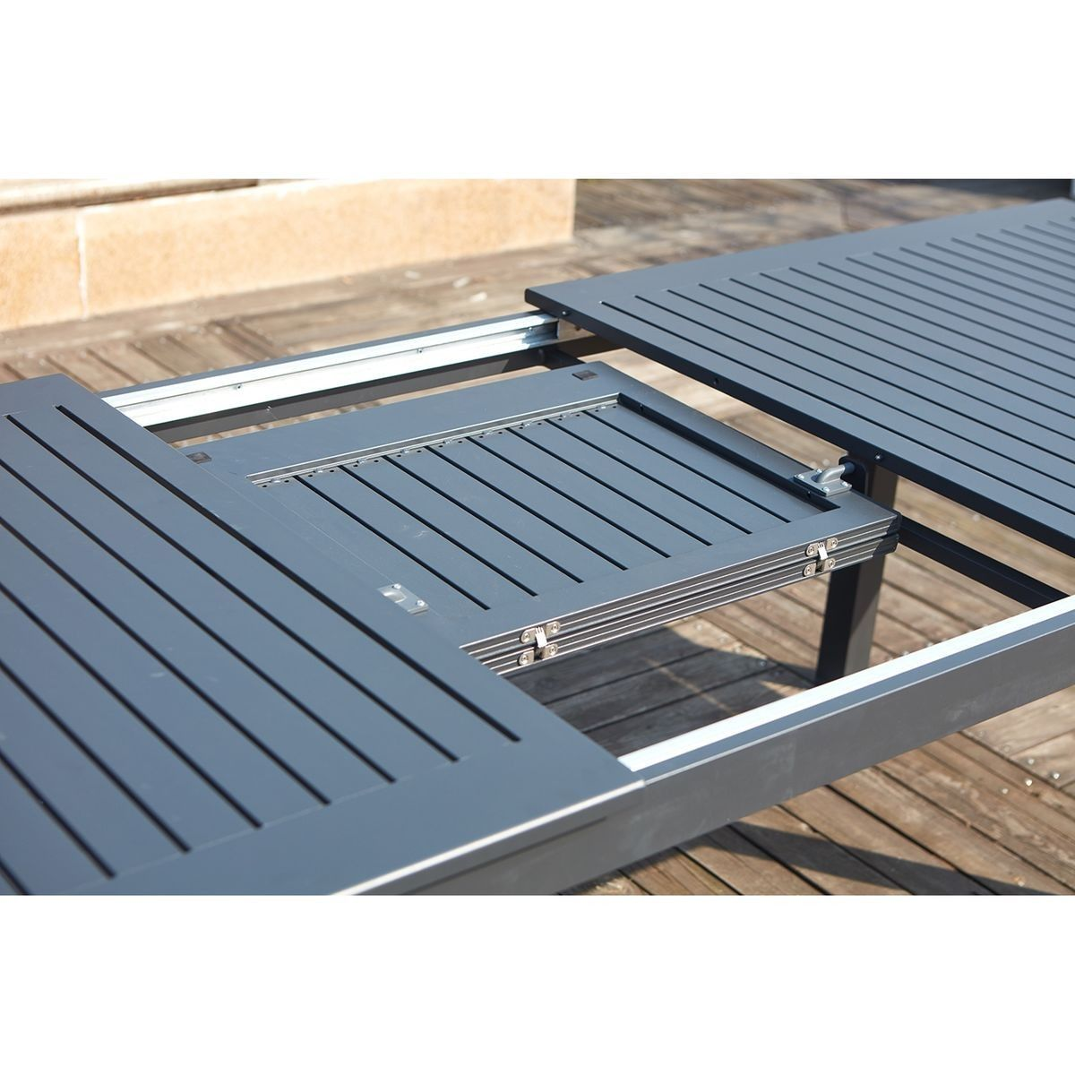 Table + Chaise De Jardin Aluminium Extensible 10 Places ...