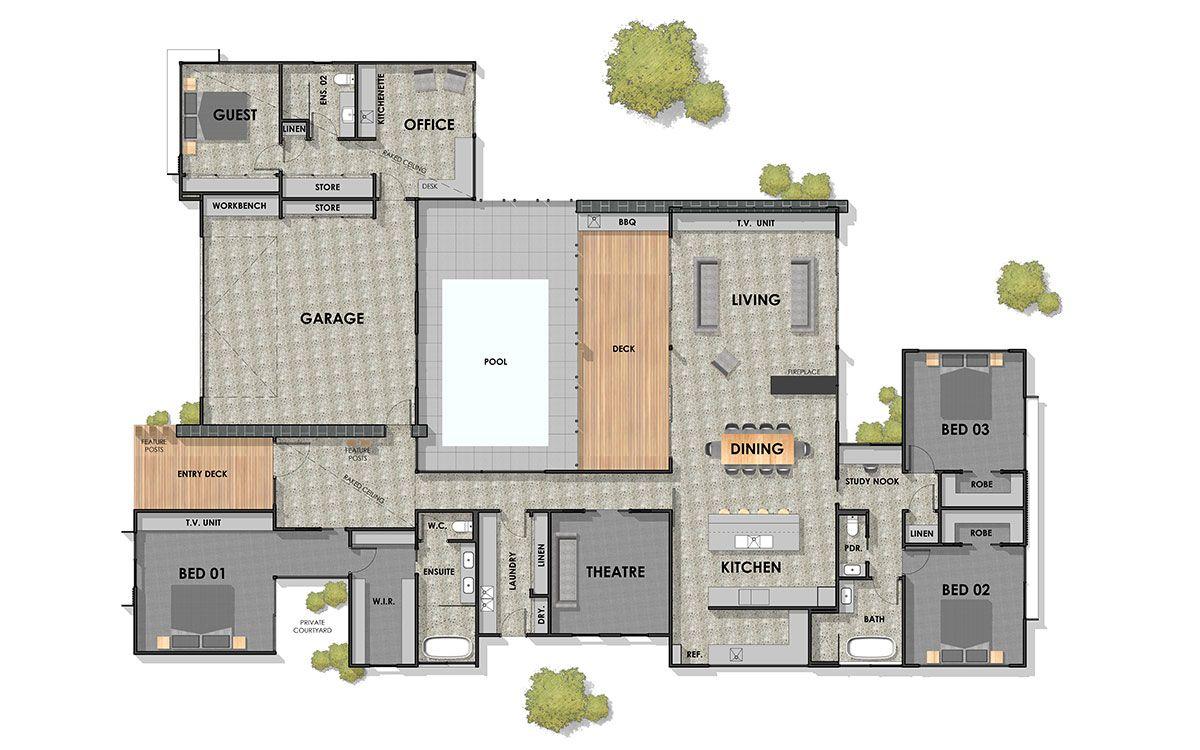 Connewarre 40 Corner Block Floor Plan 1200 750 New House Plans Beautiful House Plans House Layout Plans