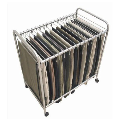 Wheeled Steel Rolling Pants And Necktie Closet Trolley By Trademark Glo Storage Closet Organization Wardrobe Closet Storage Closet Organizing Systems