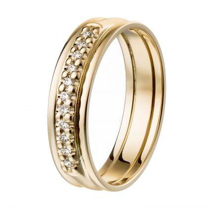 Kalevala Koru / Kalevala Jewelry / Sateenkaari-sormus 11 x 0,01 ct / 18K keltakulta tai valkokulta / #sormuskertootarinaa