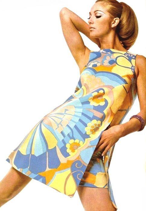 Printed summer dress by Grès, 1967