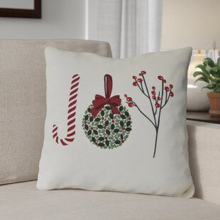 The Holiday Aisle Hershel Christmas Indoor Outdoor Canvas Throw Pillow Wayfair Holiday Throw Pillow Throw Pillows Christmas Holiday Pillows