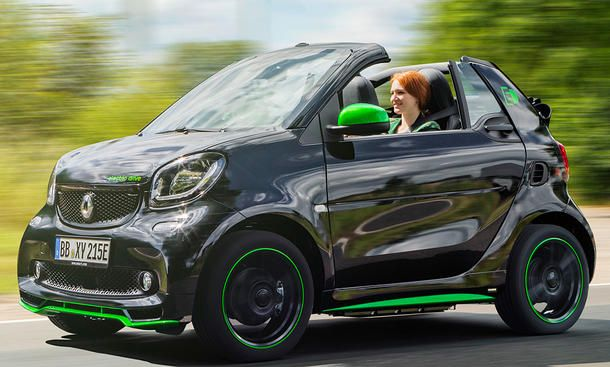 neues smart electric drive cabrio 2017 erste testfahrt. Black Bedroom Furniture Sets. Home Design Ideas
