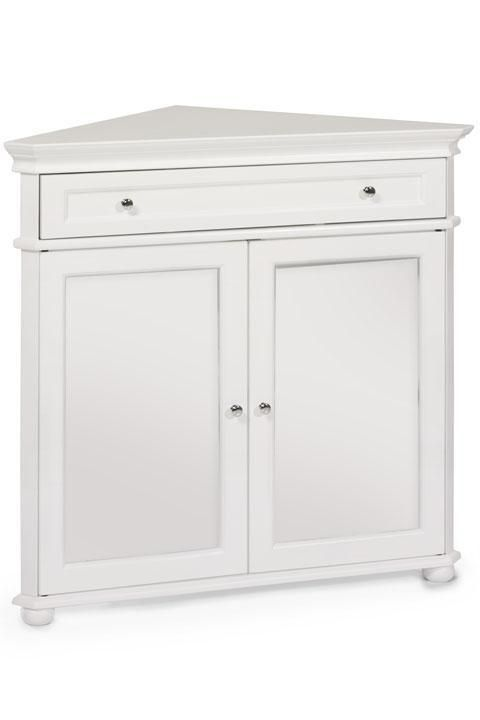 Hampton Bay 32 W Corner Cabinet With Two Wood Doors Wood Cabinets Storage Solutio In 2021 White Storage Cabinets Corner Storage Cabinet Corner Cabinet Dining Room