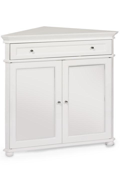 Hampton Bay 32W Corner Cabinet With Two Wood Doors