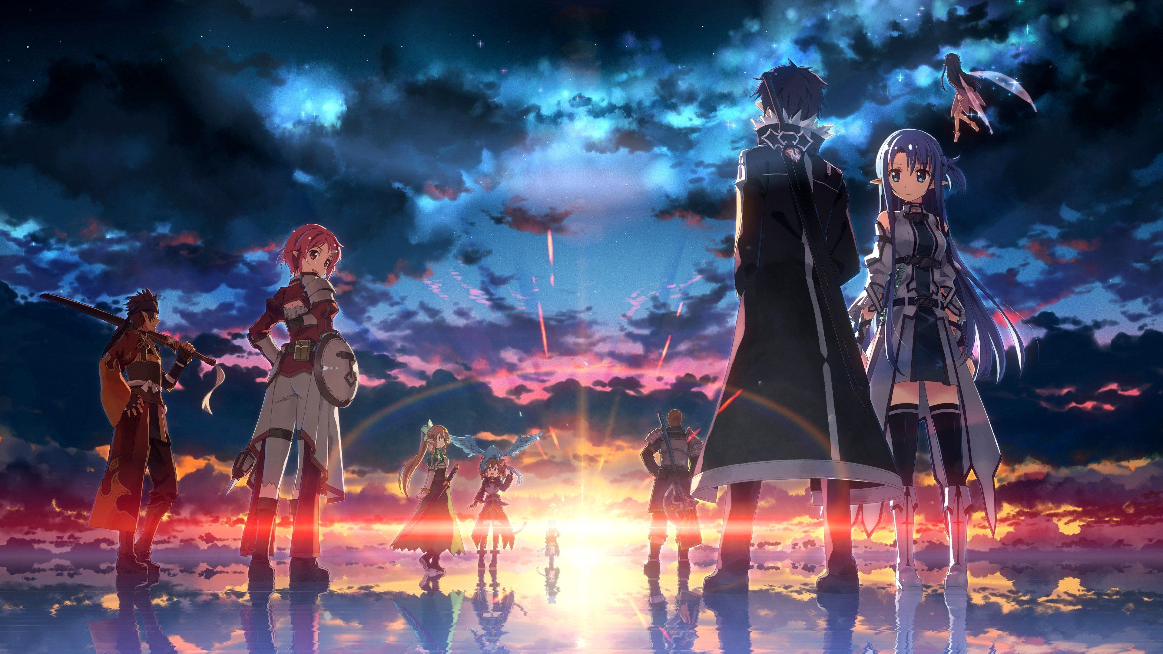 Sword Art Online Wallpaper 4k Pc Ideas Wallpaper In 2020 Sword Art Online Wallpaper Sword Art Sword Art Online Poster
