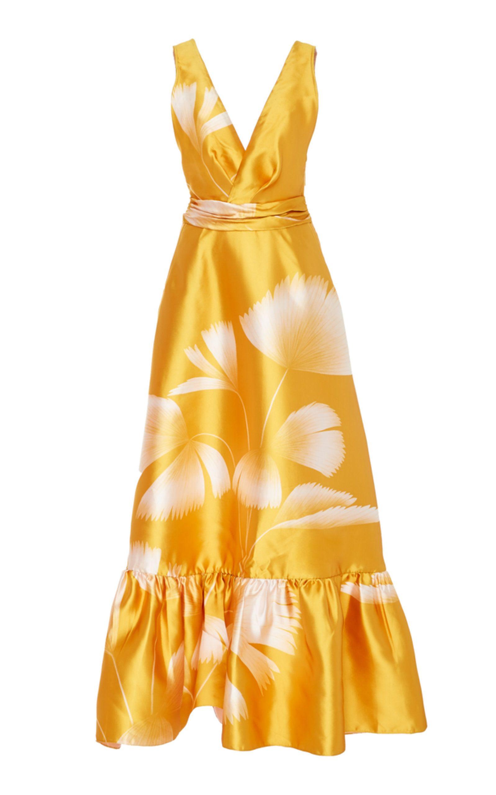 Johanna Ortiz Rueda De Cumbia Satin Dress | Fashion Lust