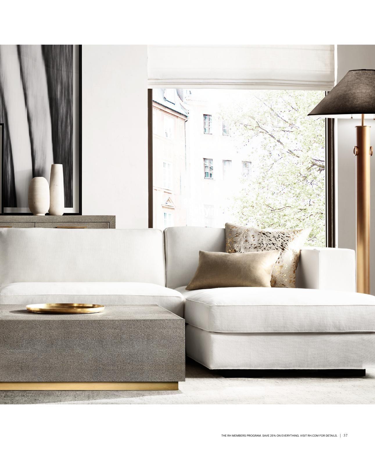 rh source books  luxury living room design modern living
