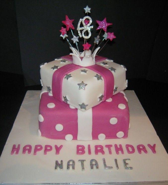 Stacked Birthday Present Cake 18th Birthday Pinterest 18th