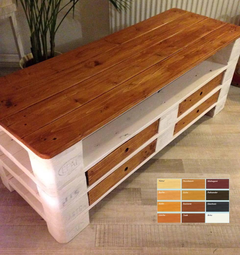tv schrank von beaver design ausgefallen massivholz mehrfarbig m bel aus paletten tv m bel