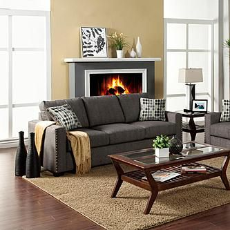 Gray Couch Tan Walls Google Search