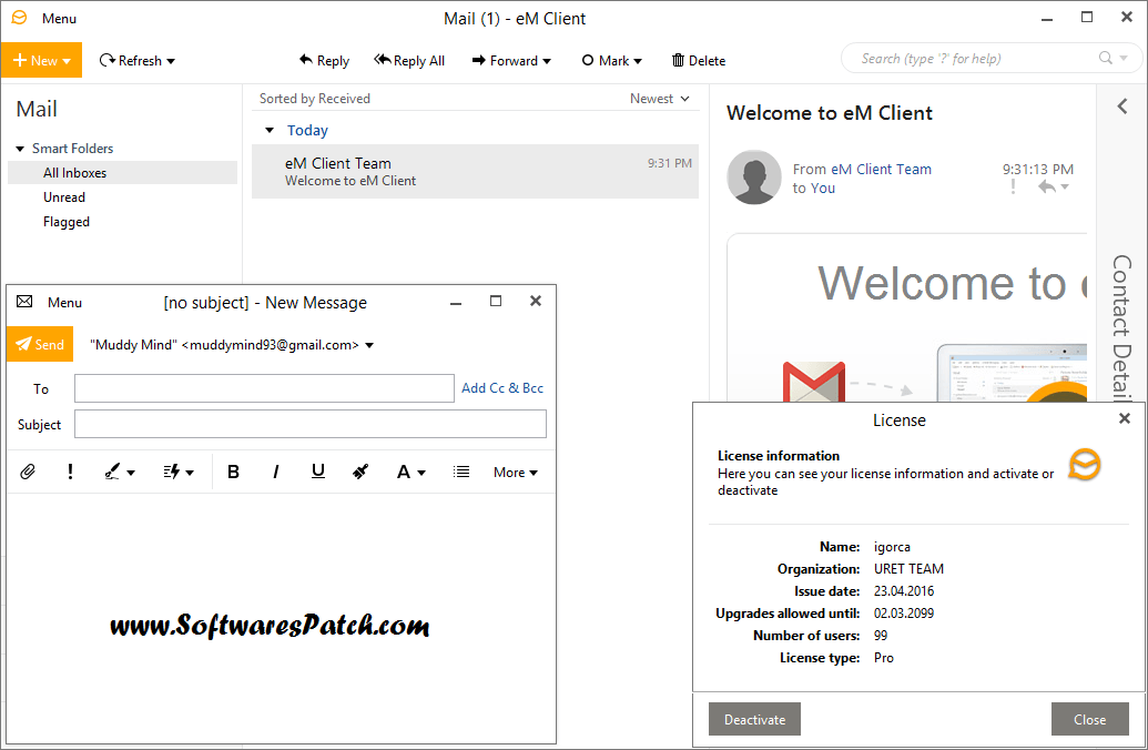 Em client 7 pro license crack keygen final download em client 7 pro license crack keygen final download ccuart Image collections