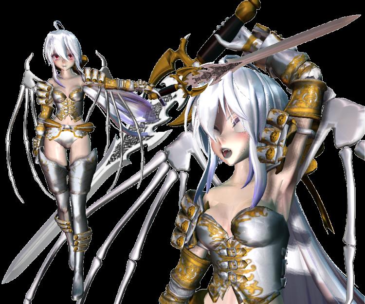 MMD x Collab]Demon Warrior Haku + DL by melissammeli on
