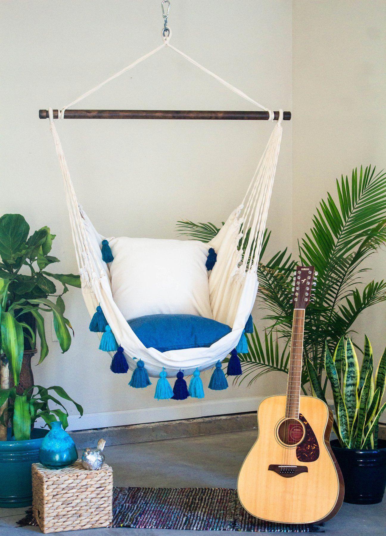 turquoiselivingroomdecor in 2020 Indoor hammock chair