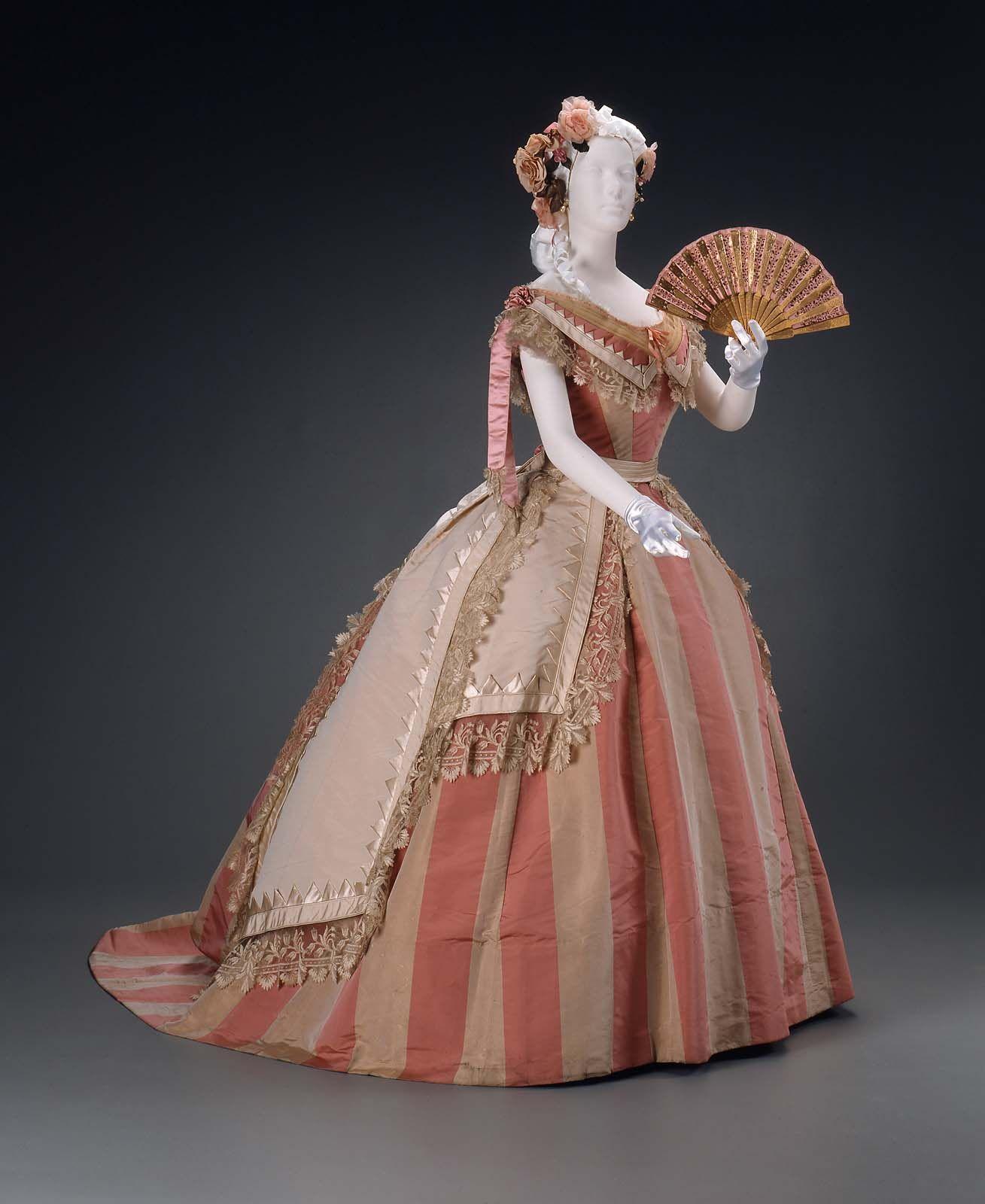 Evening dress mme roger c victorian fashion crinoline