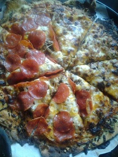 Homemade pizza i madee