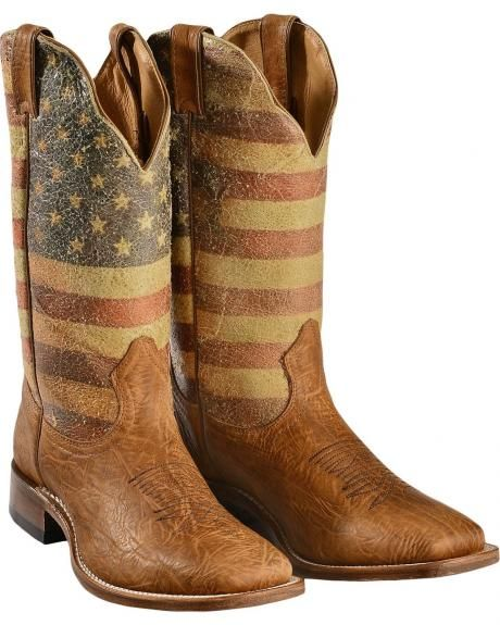 927550708be Boulet American Flag Cowboy Boots - Square Toe - Sheplers | All ...