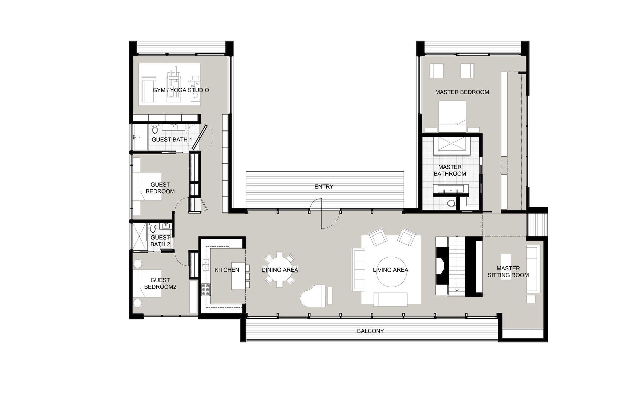 Gallery Of New Canaan Residence Specht Harpman 22 Pool House Plans U Shaped House Plans U Shaped Houses