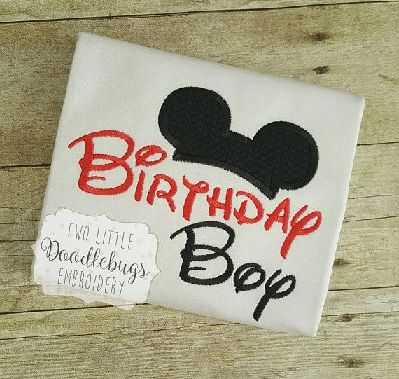 Birthday Boy Mickey Mouse Shirt Disney Boys Toddler