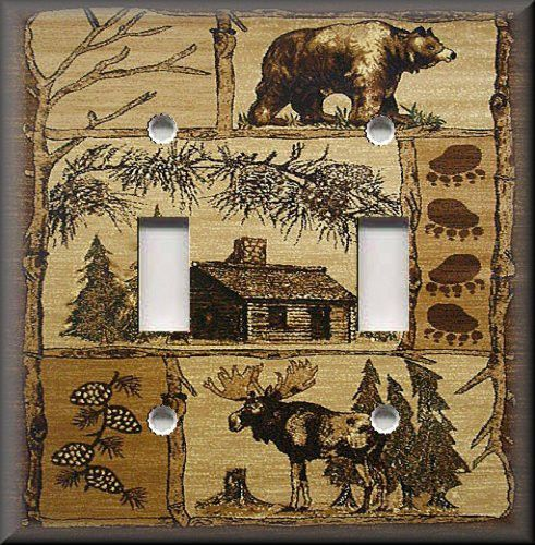 Details About Metal Light Switch Plate Cover Rustic Bear