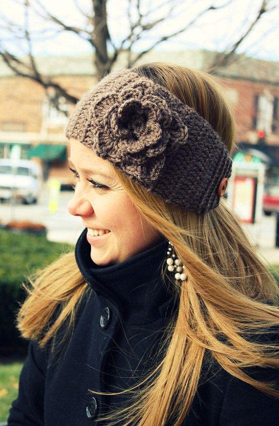 crocheted headband | Crochet | Pinterest | Mütze häkeln ...