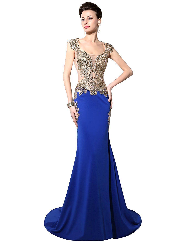 Long prom dresses womenus mermaid evening dress formal long prom