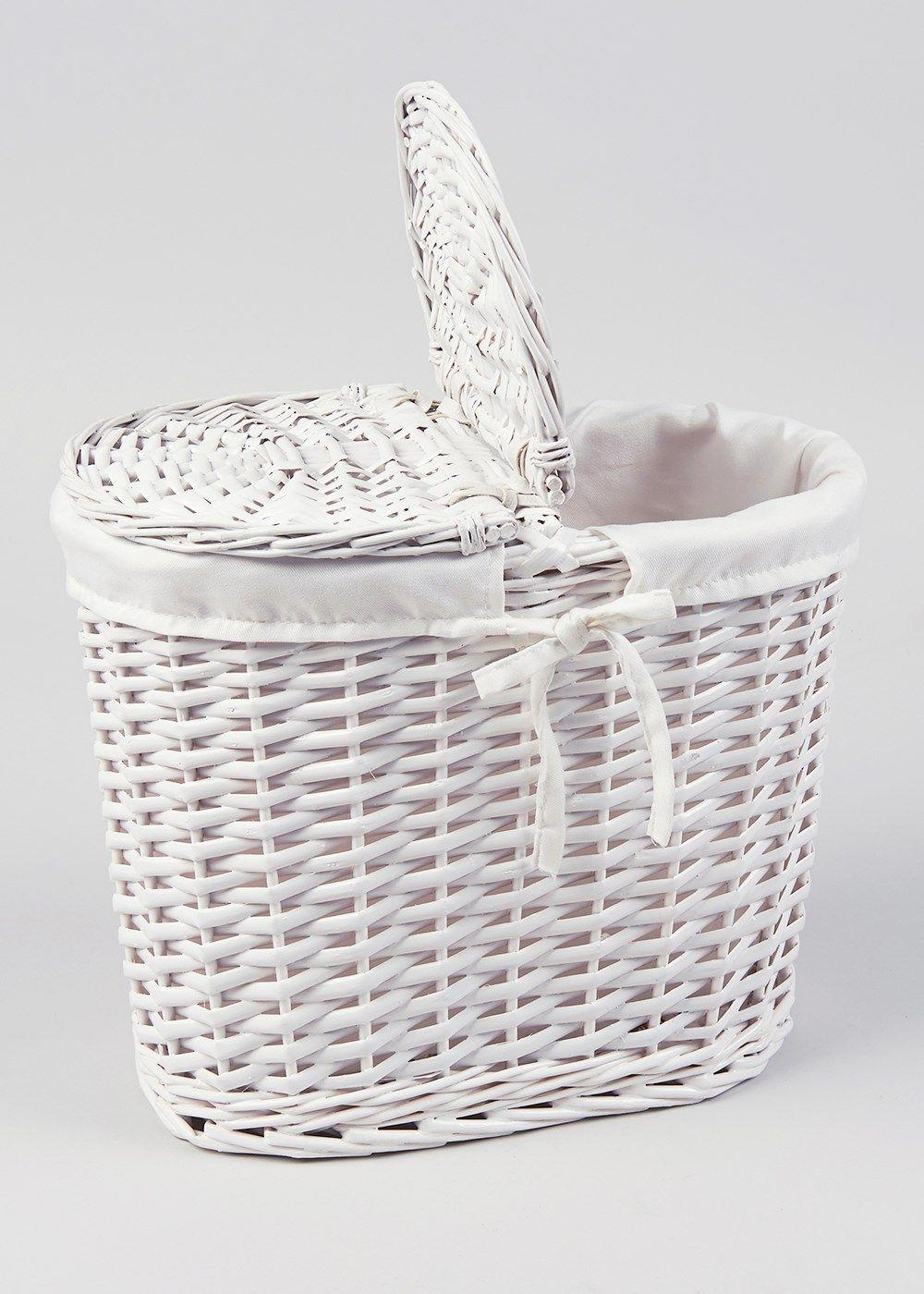 Wicker Toilet Roll Storage Basket 19cm X 33cm 30cm Matalan
